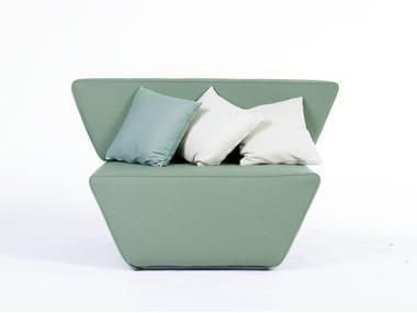 Fabric armchair DUNE | Armchair