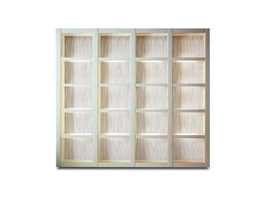 Libreria in legno con illuminazione DUNE | Libreria