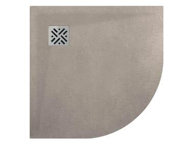 Piatto doccia semicircolare in MineraLite DUNE | Piatto doccia semicircolare