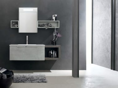 Single wooden vanity unit e ly composition e ly collection by