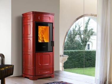 Multi-fuel faïence stove E228 C