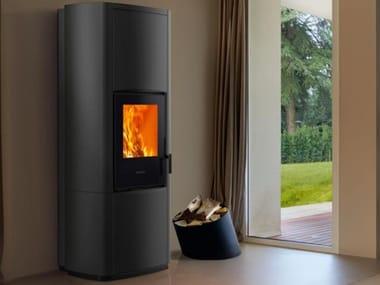 Multi-fuel faïence stove E228 M-H