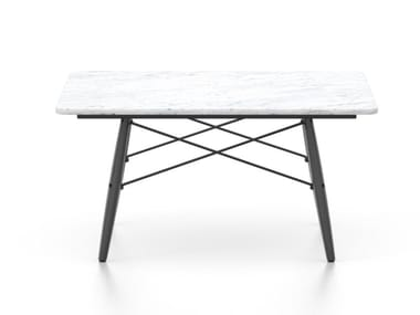 Square Carrara marble coffee table EAMES COFFEE TABLE | Marble coffee table
