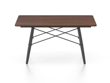Square coffee table with solid American walnut top EAMES COFFEE TABLE | Square coffee table