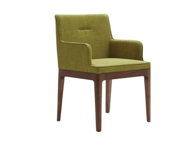 Fabric chair with armrests EARL | Chair with armrests