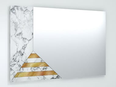 Rectangular wall-mounted mirror EARP
