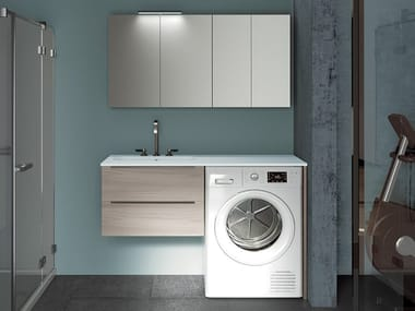 Laundry room cabinet with sink for washing machine EASY 10