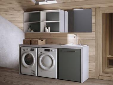 Mobile lavanderia componibile con lavatoio per lavatrice EASY 11