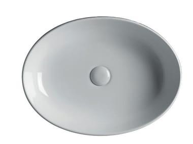Countertop oval ceramic washbasin EASY 55