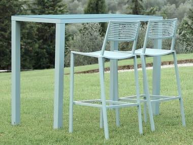 Rectangular aluminium high table EASY   Aluminium High table