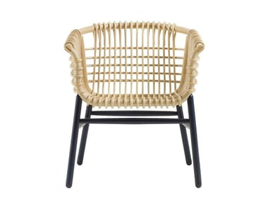 Rattan and Rubberwood easy chair LUKIS | Easy chair