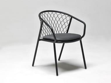Aluminium garden chair with armrests NEF | Garden chair