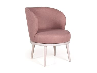 Swivel fabric easy chair AUDREY MASS