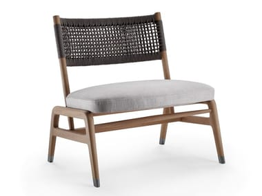 Solid wood easy chair with integrated cushion ORTIGIA | Easy chair