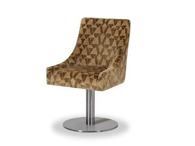 Swivel upholstered velvet chair VOILIER | Chair