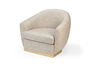 Fabric easy chair with armrests GRACE | Easy chair