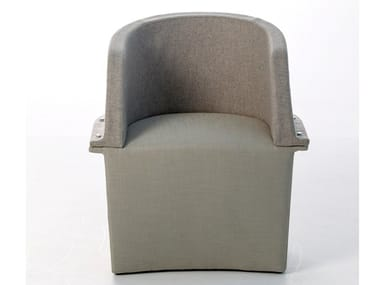 Fabric easy chair with armrests ASSEMBLY | Easy chair
