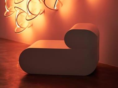 Coated foam garden armchair BOO | Garden armchair