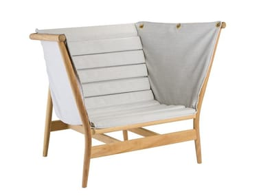 Garden fabric easy chair with armrests MAREA | Easy chair with armrests