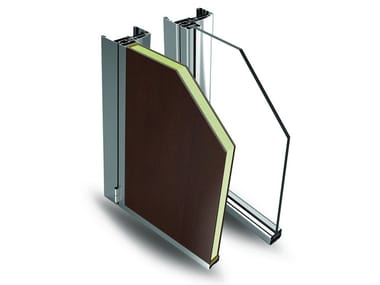 Glass and aluminium door EASY DOOR