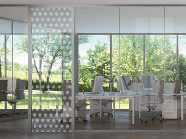 Partition wall with coordinated frames EASY GLASS