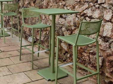 Square aluminium high table EASY | High table