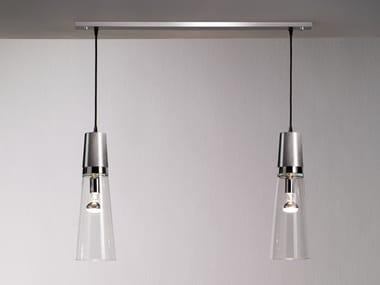 Handmade metal and glass pendant lamp EAU DE T. S2