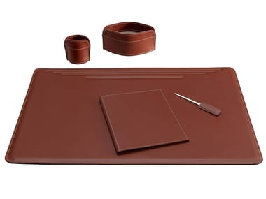 Bonded leather desk set EBE 5 PZ