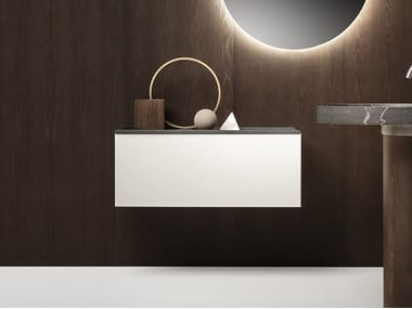 Suspended bathroom cabinet ECCENTRICO | Bathroom cabinet