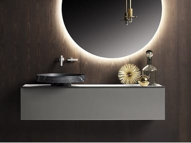 Single wall-mounted vanity unit ECCENTRICO | Single vanity unit