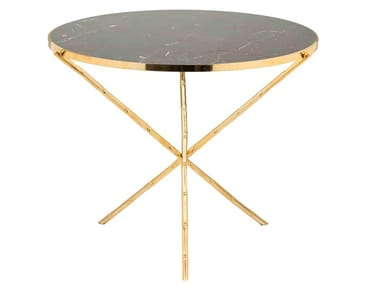 Round brass coffee table ECLECTIC BAMBOO 03