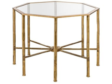 Octagonal brass coffee table ECLECTIC BAMBOO 05