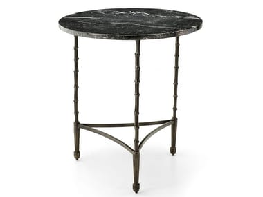 Round brass coffee table ECLECTIC BAMBOO 06