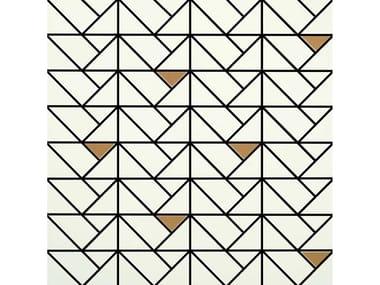 Mosaico in ceramica ECLETTICA | Mosaico Bronze White