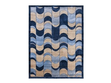 Patterned handmade rectangular rug ECLIPSE | Patterned rug