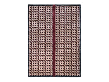 Handmade rectangular rug with geometric shapes ECLIPSE | Rug with geometric shapes