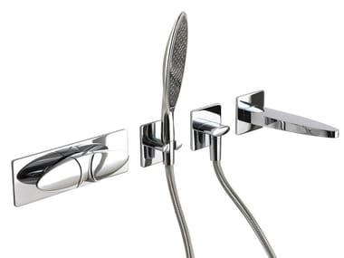 Chromed brass shower tap with hand shower ECLIPSE F3909X2 | Shower tap
