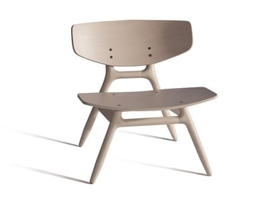 Stackable beech easy chair ECO 501M