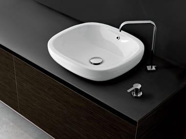 Oval ceramic washbasin ECO