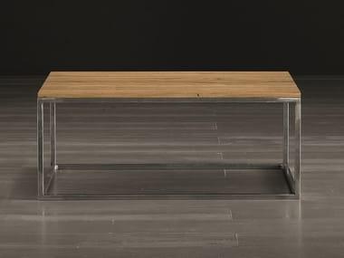 Tavolino da caffè rettangolare in legno massello ECO   Tavolino