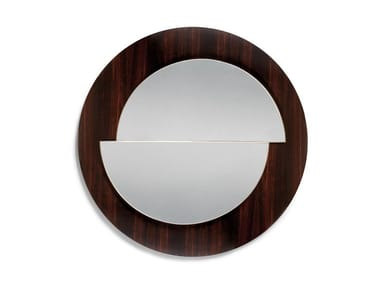 Round framed wall-mounted mirror ECUADOR