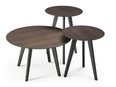 Mesa de apoio redonda EDGAR | Mesa de centro de madeira multi-camada