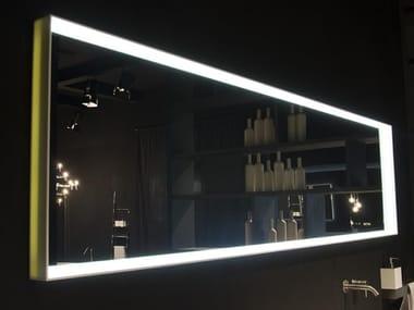 Specchio per bagno da parete con cornice in Corian EDGE