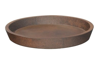 Saucer in Fiber Clay EDGWARE RUSTY LITE | Flowerpot holder