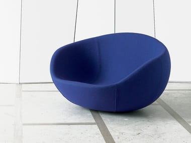Rocking fabric easy chair EERO