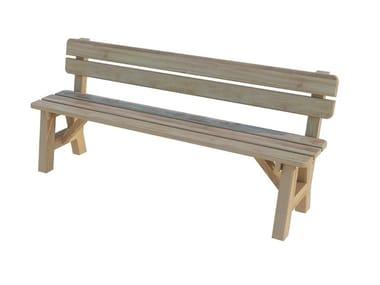 Panca da giardino in abete con schienale EGEO | Panca da giardino con schienale