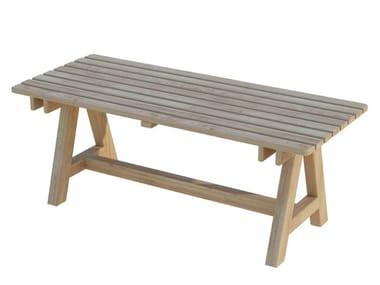 Tavolo da giardino rettangolare in legno EGEO | Tavolo