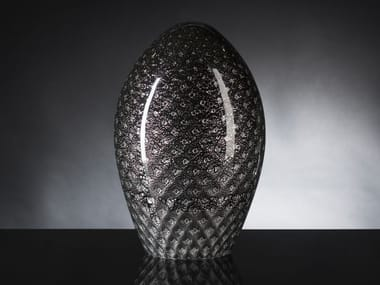 Contemporary style glass decorative object EGG MOCENIGO
