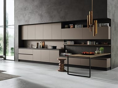 Linear kitchen with integrated handles EKO | Linear kitchen