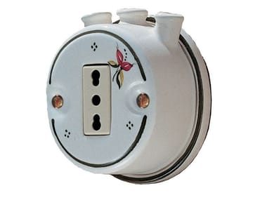 Single ceramic electrical outlet ACCESSORI | Electrical outlet